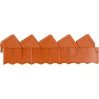 Ограждение GRINDA для клумб, цвет коричневый, 2 секции 8-422303