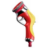 Пистолет-распылитель GRINDA 9-позиц., металлический с TPR, с автомат. сменой режимов распыления 8-427141